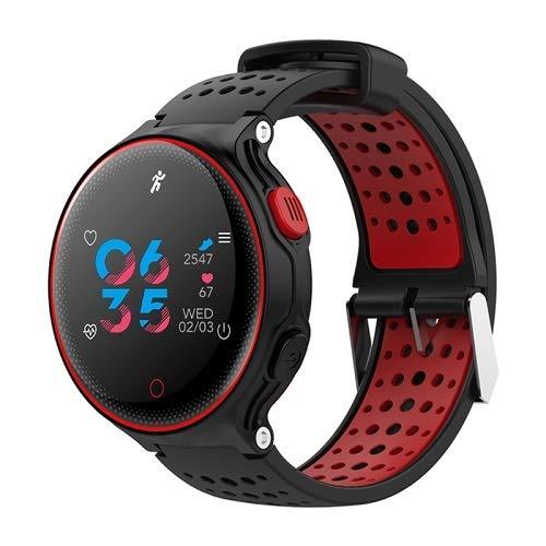 Kydo Smart Band Activity Tracker Fitness X2 Waterproof IP68 Cardiofrequenzimetro Pressione sanguigna Rosso