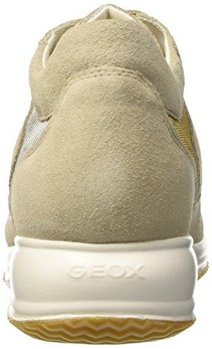 Geox D Happy C, Baskets Basses Athlétiques Pour Femmes Beige (lt Taupe / Platinumch62u)
