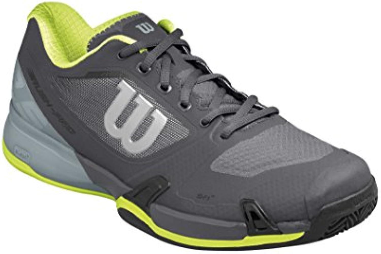 Wilson WRS322660E125, Zapatillas de Tenis para Hombre, Gris (Ebony/Monument/Lime Punch), 48 EU  -