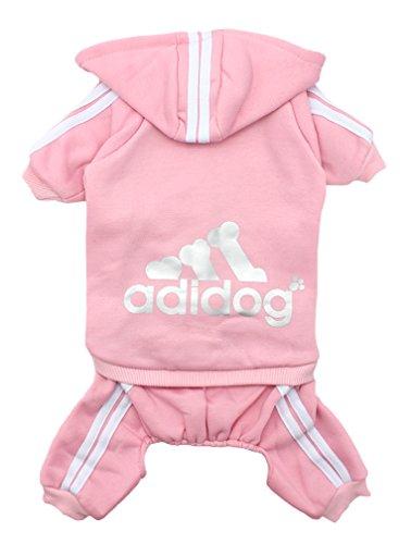 Scheppend Herbst und Winter mit Vier Beinen Hund Sweatshirts mit Kapuze,Pink XL Xl Hund Sweatshirts