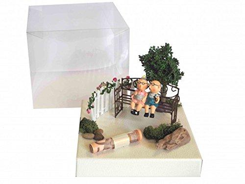 ZauberDeko Geldgeschenk Verpackung Geldverpackung Oma Opa Garten Geburtstag Goldhochzeit Geld Blumen