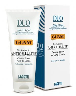 Fanghi Alga Guam Duo Crema Anticellulite Azione Calda Forte 200 ml Hot Action