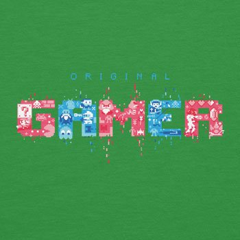 Planet Nerd - Original Gamer Graphic Print - Herren T-Shirt Grün