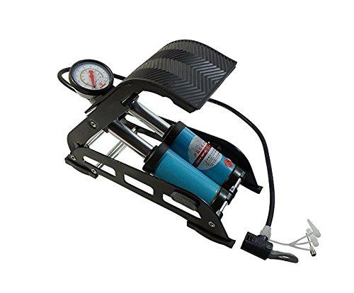 Preisvergleich Produktbild a-nam Aluminium Legierung Kolben Replica Fuß Luftpumpe, schwere Pflicht mit Manometer-Einzelbett/Doppelbett Schaft für Auto Van Fahrrad Bike Reifen Betten und Toys