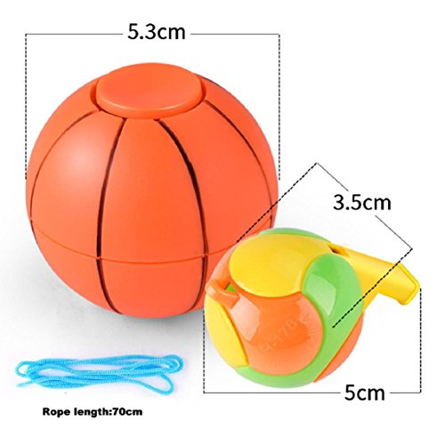 BZline 2017 Fútbol Baloncesto dedo Hand Spinner EDC Stress Relief juguete (Color B)