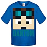 One Stop Kids - Camiseta de manga corta - para niño azul DanTDM Blue