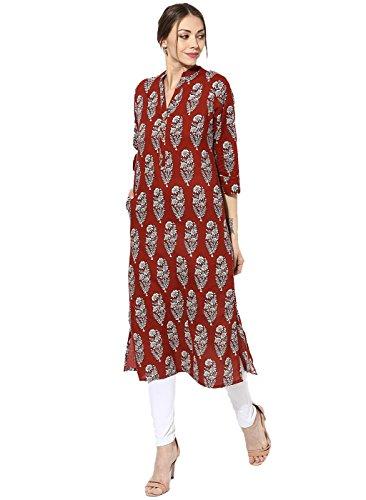 Ramrath Women's Cotton Printed straight Party wear Designer Kurti