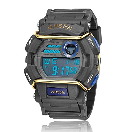 7f54ccc81165 ... Chicas de múltiples funciones resistente al agua luz de fondo pantalla  cuarzo reloj deportivo OHSEN niños mujeres (púrpura). Comments. Reloj de  Deportes ...