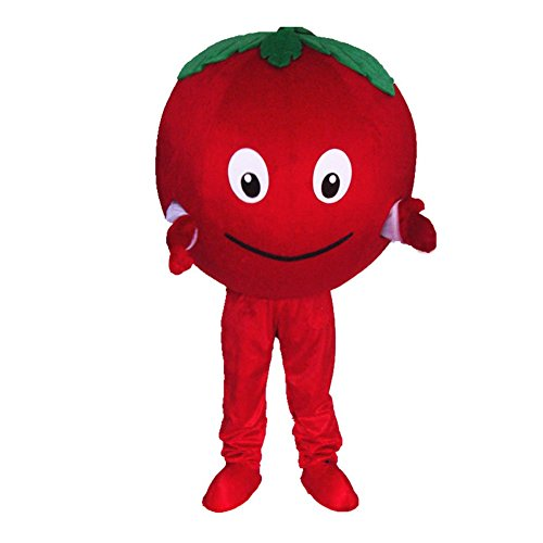 DREAM--STORE Rojo Tomate Mascota Disfraz para Halloween Vestido de Fiesta tamaño Adulto