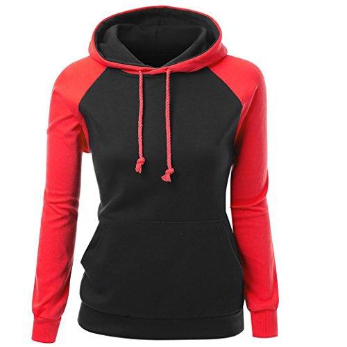 Frauen Tasche Kapuze Strickjacke Raglanhülsenlänge T-Shirt Herbst Hoodies Kapuze Langärmeligen (S, (Marilyn Size Kleid Plus)