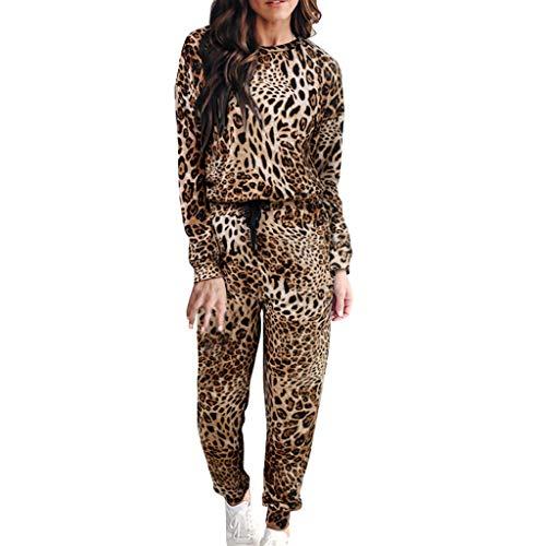 MXJEEIO Conjunto Chándales Casuales Estampado Leopardo