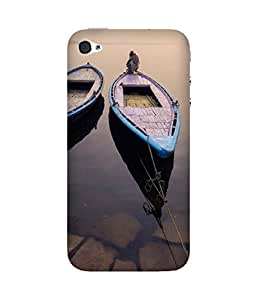 Man On Boat Apple iPhone 4/4S Case