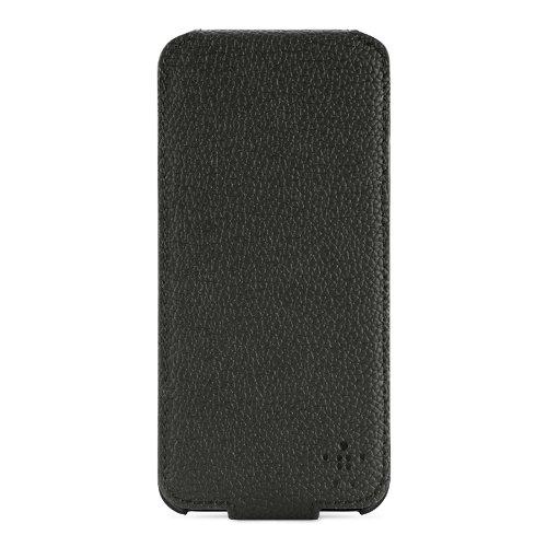 Belkin Snap Folio Leder/Acryl-Schutzhülle für iPhone 5/5s schwarz/grau Snap Folio