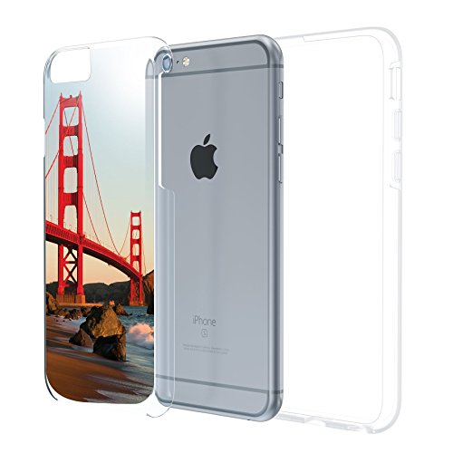 iPhone 6 6S Plus 5.5 Case, True Color® städ Table wahrzeichen Collection Imprimé sur transparent Hybrid Hard + Soft slim fin
