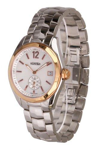 Roamer - 412852472440 - Swiss Made - Montre Femme - Quartz Analogique - Cadran Doré - Bracelet Acier Argent