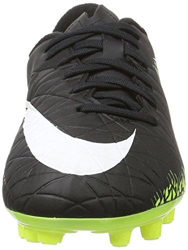 Nike Jungen 744943-017 Fußballschuhe Schwarz (Black/White-Volt-Paramount Blue)