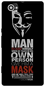 The Racoon Lean Anonymous Quotes hard plastic printed back case for Sony Xperia M