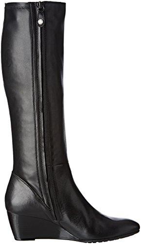 Geox D Venere B, Bottes Classiques Femme Schwarz (BLACKC9999)
