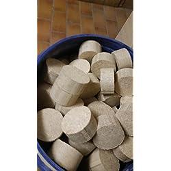 Madera Briqueta 30kg 100% madera dura: haya, roble, fresno...