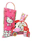 #10: Online Khajana Hello Kitty Pen Stand and Cartoon Character Pouch with Pencil, Sharpener, Eraser, Scale Stationery Kit for Boys and Girls (Red)