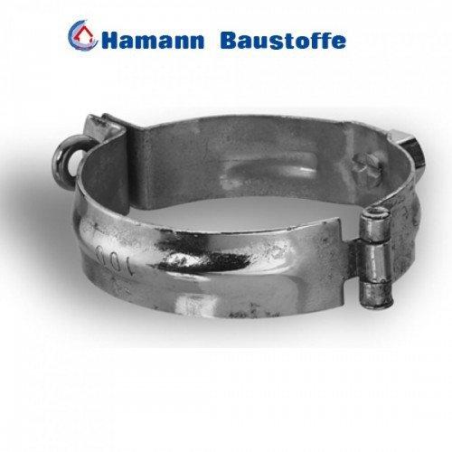 Zink Regenrinne Schelle mit Gewindemuffe M10 100 mm - Formsicher und exakte Passgenauigkeit