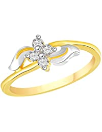 VK Jewels Shine Of Love Gold And Rhodium Plated Alloy Ring For Women & Girls Made With Cubic Zirconia- FR2611G...