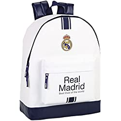 Safta Real Madrid Mochila, Color Blanco