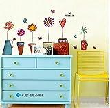 ZBYLL Wall Sticker Frische Kleine Blumentöpfe Wohnzimmer Sofa An Der Wand Dekoration Aufkleber