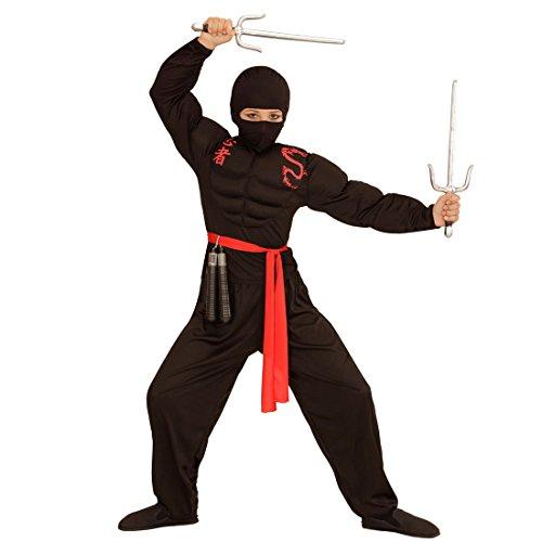 Amakando Sturmhaube - schwarz - Krieger Sturmmaske Balaclava Skimaske Samurai Augenmaske Kostüm Accessoire Jungen Kinder Ninja Maske
