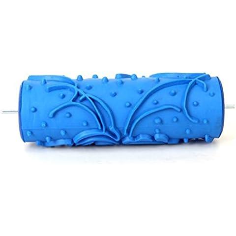 PIXNOR Rullo di pittura da 5 pollici, Mini Empaistic rullo per pittura DIY decorazione (blu)