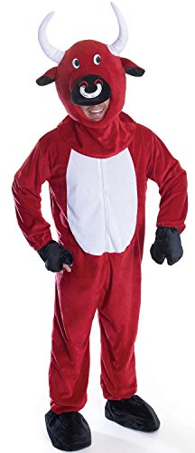 Mens Ladies Adult Bull Animal Spanish Stag Do Night Fancy Dress Costume Outfit (One Size)