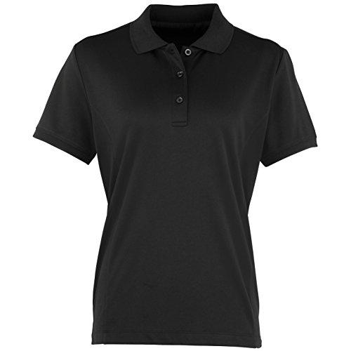 Premier Coolchecker - Polo à manches courtes - Femme Noir
