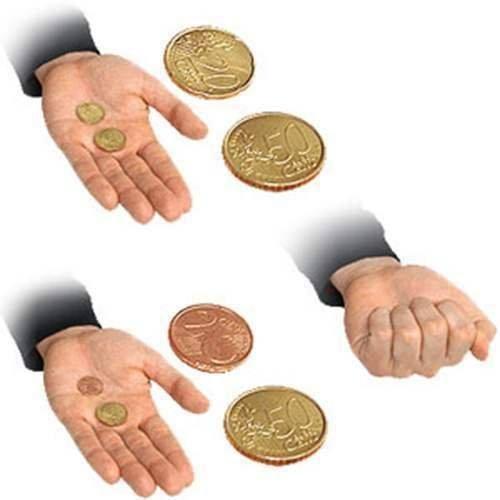 Solomagia scommettiamo - 50 e 20 centesimi euro - magia con monete - giochi di magia e prestigio