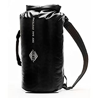 Aqua Quest MARINER Lightweight Waterproof Dry Bag Backpack 10L. 20L, 30L with Roll-Top Closure (Black, 10 L)