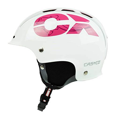 Casco Skihelm für Kinder CX-3 Junior, weiß-pink, Gr. S (50-55 cm)