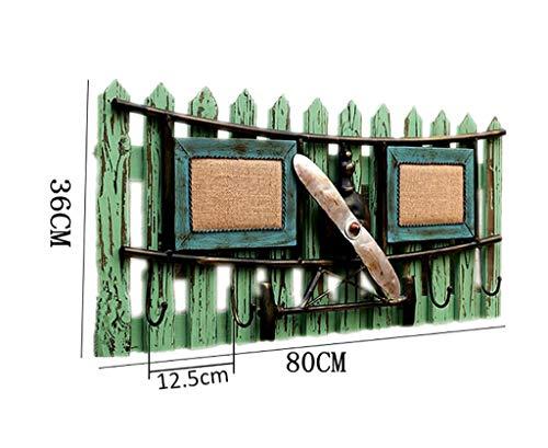 Garderobe Landhausstil im amerikanischen Stil Wandbehang im mediterranen Stil Kleiderhaken im Retro-Stil Reihenhaken Kreativer Wanddekorationshaken aus Holz Wandbehänge -