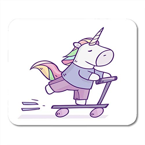 Lynx Scooter (Gaming Mauspads, Gaming Mouse Pad Pink Adult Cartoon Character Unicorn Riding by Scooter Animal 11.8