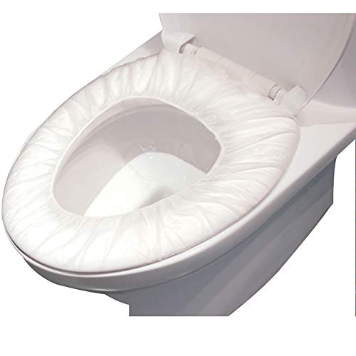 Huichao Toilettensitz-Covers-Einweg-Potty Seat Covers, Individuell Von Potty Shields Gewickelt-Extra-Large, Kein Slip (100 Stück)