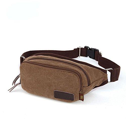 DONG Herren / Freizeit / Sport / Leinwand / Outdoor / kleine Tasche / Handtasche / Brusttasche coffee