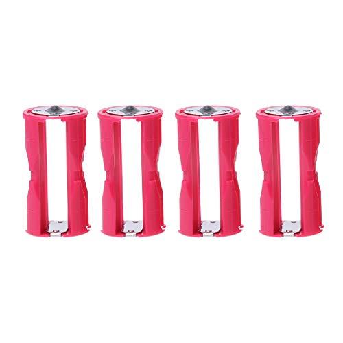 Dchaochao 4 Stück AAA auf C Größe Parallel Cell Adapter Batteriehalter DC 1,5 V Gehäuse Box Konverter - 1,5 V Dc Lithium-batterien