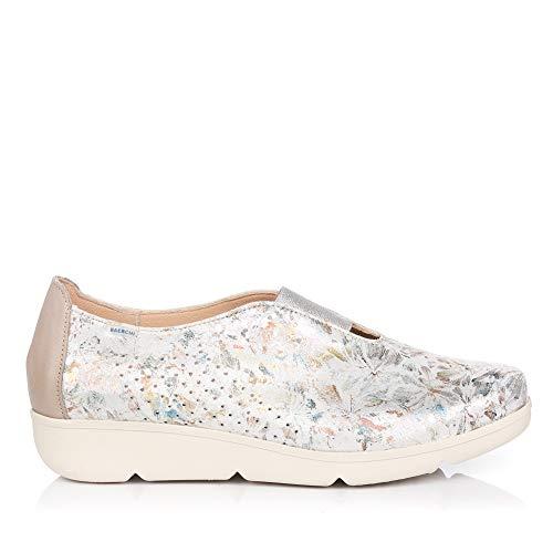 BAERCHI 37454 Zapato Metalizado Piel Mujer