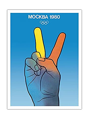 1980 Moscow (Mockb__) Summer Olympic Games - XXII Olympiad - Vintage Olympic Games Poster c.1979 - Premium 290gsm Giclée Art Print 36in x 48in