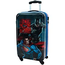 Warner Superman-Batman Equipaje de Mano, 33 Litros, Color Gris