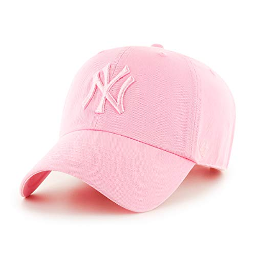 47brand Clean Up Unisex Damen Herren MLB League Adjustable Baseball Cap Rosa