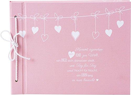 Goldbuch Babyalbum, Poetry Pink, 29 x 23 cm, 40 weiße Blankoseiten, mit Kordelbindung, Leinenstruktur, Rosa, 4132