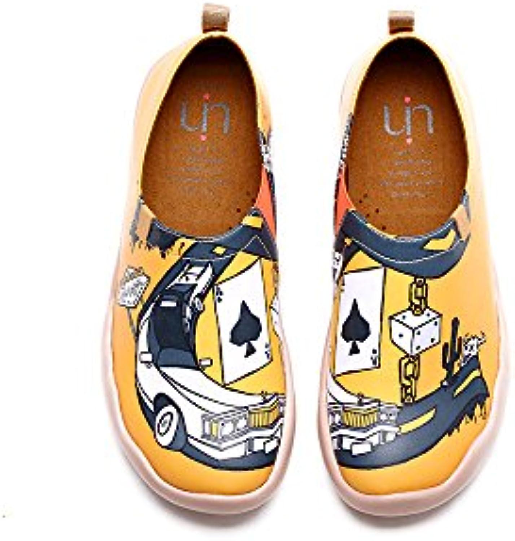 UIN Luz de neón Zapatos de cuero impresa morado para las mujeres