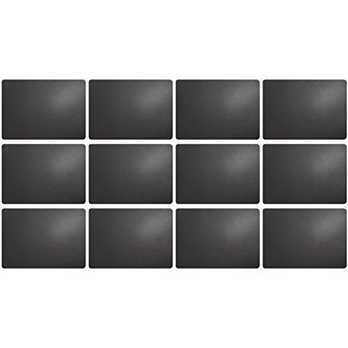 ASA Selection 7807420 'table top Lederoptik' Tischset, 46 x 33 cm, Kunststoff, basalt (12er Pack)