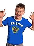 Coole-Fun-T-Shirts Russland Russia T-Shirt Kinder Ringer Blau, 152
