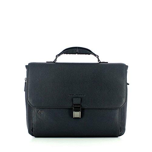 Piquadro Black Square Laptoptasche mit Überschlag 41 cm blue
