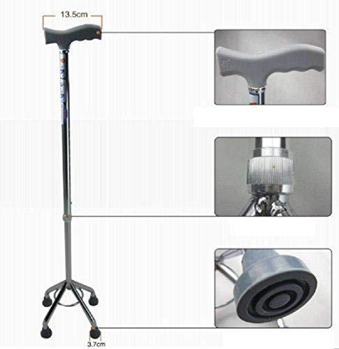 Kriva Folding Aluminium Portable Walking Stick 4 Leg - 1pc (Assorted Color)